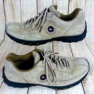 Polo Ralph Lauren Tan Suede Women Tennis Shoes 9.5